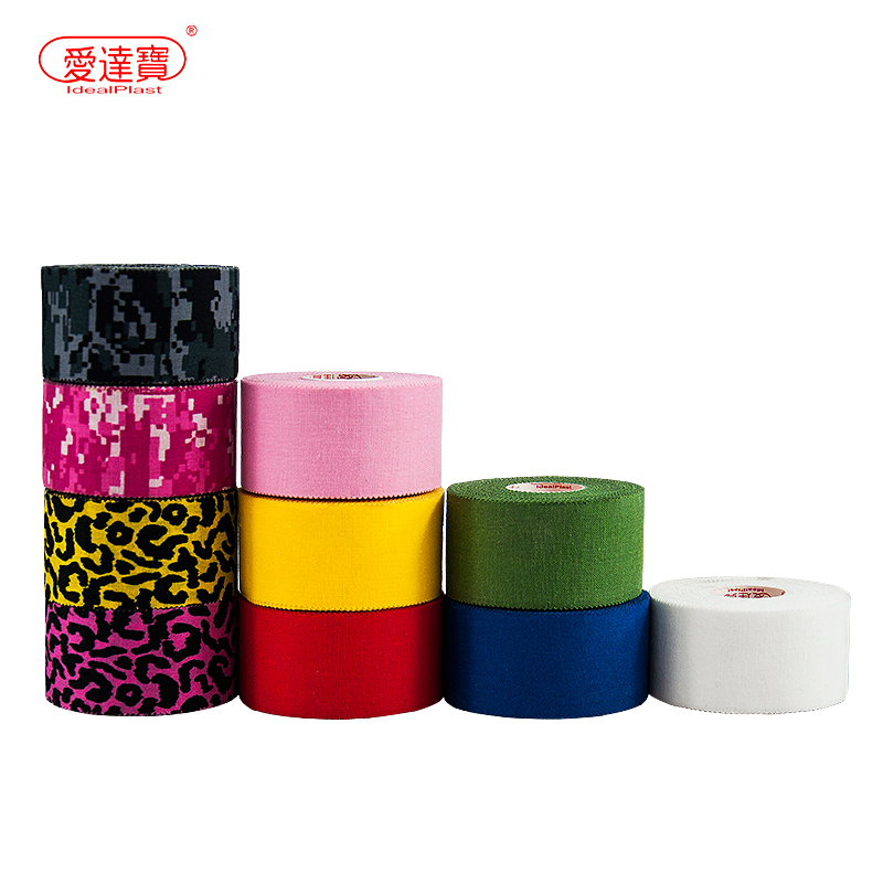 Free Shipping One Roll 3.8cm*7.3m Kinesiology Tape Sports Tape Zigzag edge Joints Protector Athletic Adhesive Tape