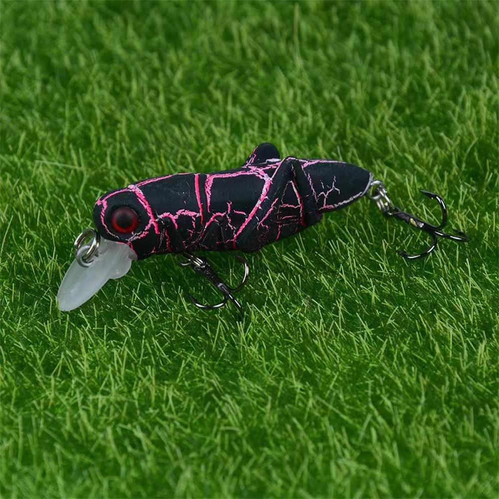 5 Pcs Künstliche Heuschrecke Insekten Angelköder Harten Köder Crankbaits