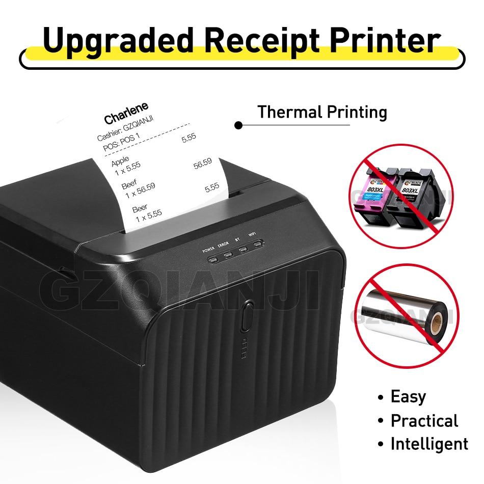 58mm pos recibo térmico bill universal bilhete impressora usb/bluetooth suporte a dinheiro impressora de computador gz5809 impressão recibo