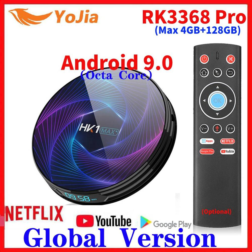 RK3368 PRO Android 9.0 TV Box 4GB RAM 128GB ROM Octa Core Smart Media Player USB3.0 Google Play Netflix 8G/32G/64G Set Top Box