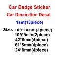 Автомобильный значок, наклейка для украшения автомобиля, наклейка для Bmw M Performance Power 3 Series 5 Series 7 Series e46 e90 e60 Z4 X3 X4 X5 X6, 1 комплект