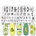 Трафареты для стемпинга ногтей PICT YOU, Летние фрукты, трафареты для печати линий и цветов