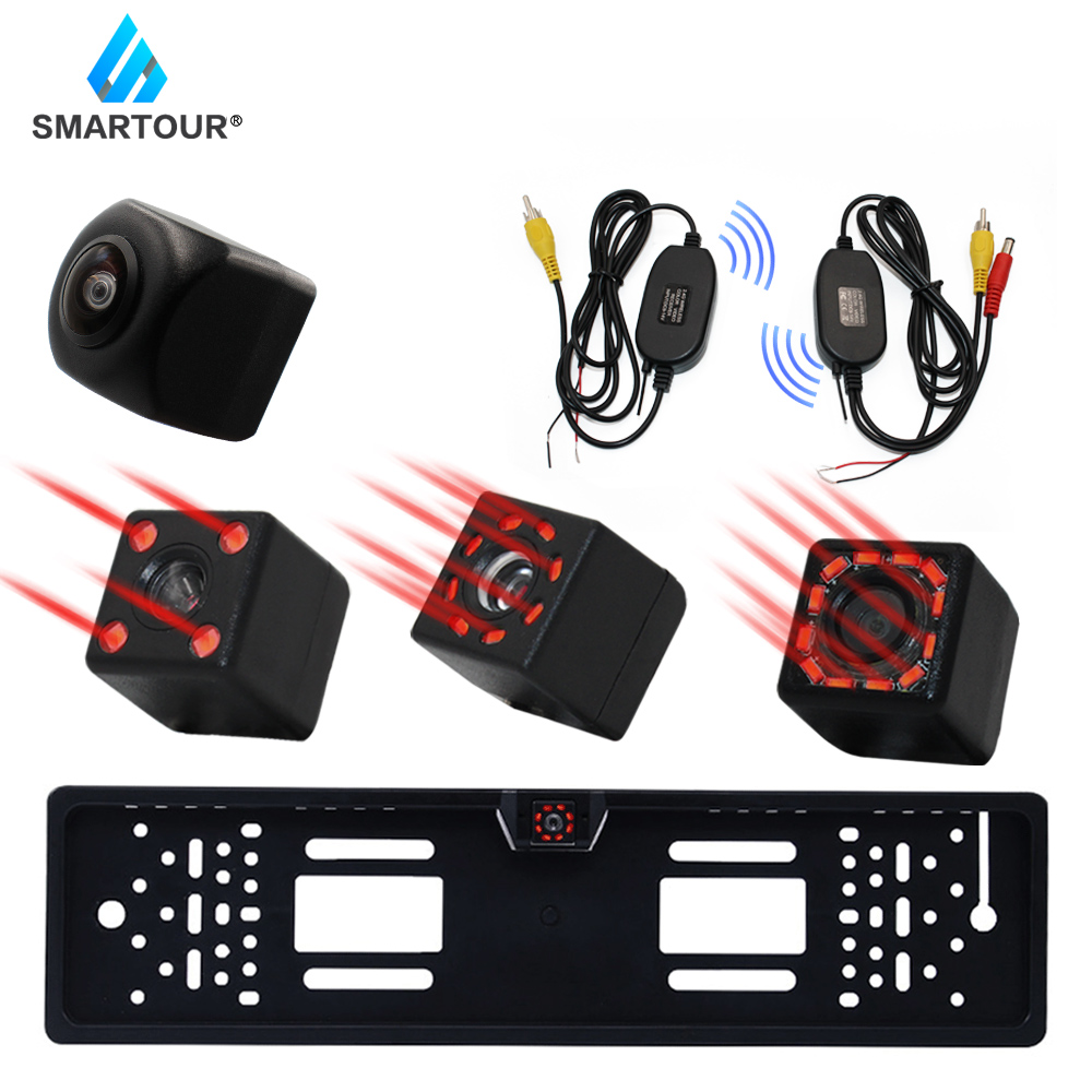 Smartour New HD Night Vision Car Rear View Camera 120 Wide Angle Reverse Parking Camera Waterproof CCD LED Auto Backup Monitor