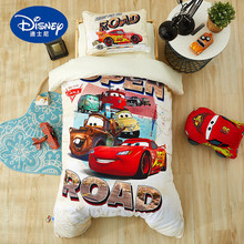 Disney McQueen Car Bedding Set For Baby Crib bed linen 3pcs set duvet cover bed sheet pillow case for baby 60x120cm cot gifts 3pcs cotton crib bed linen kit cartoon baby bedding set includes pillowcase bed sheet duvet cover without filler
