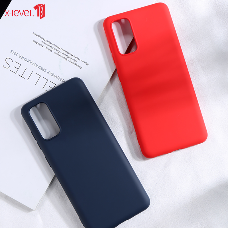 X-Level Liquid Silicone Case For Samsung Galaxy S20 Ultra Original Soft Skin Feeling Back Phone Case For Samsung S20 Plus Cover