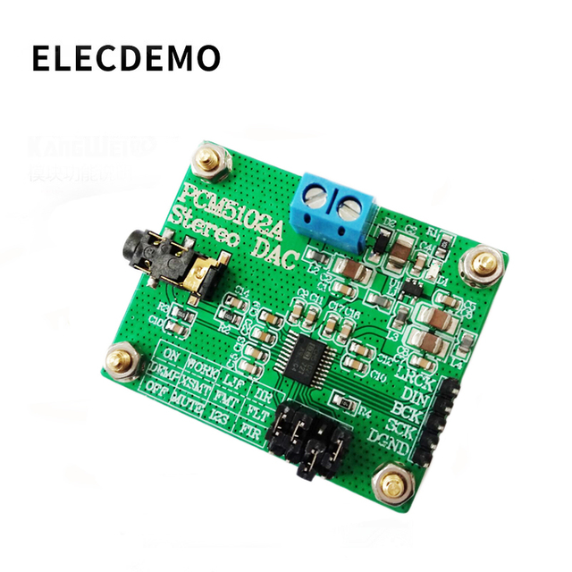 PCM5102A Modulo Audio Digitale I2S IIS Stereo DCA Modulo scheda di Decodifica Digitale ad Analogico Convertitore Audio consiglio