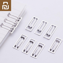 Youpin 10 / pack mini paper clip SN106 metal folder stationery transparent binder paper clip photo ticket note letter