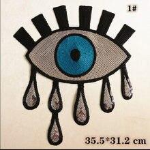 Patch di stoffa Ricamo di Goccia di Modo Occhi Speciale del Modello T-Shirt Fori DNF Abbigliamento Toppe E Stemmi