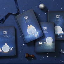 """""""ضوء القمر"""" غطاء صلب أوراق سوداء دفتر كراسة الرسم مجلة مذكرات فارغة المفكرة القرطاسية هدية"""