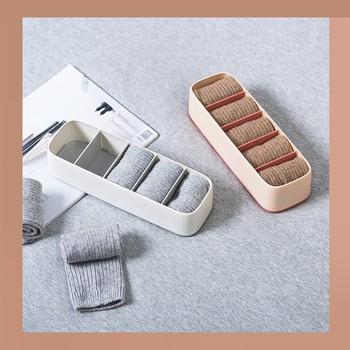 Składane szuflady organizery schowek etui na biustonosz krawaty bielizna skarpetki szalik organizery szuflady szary tanie i dobre opinie Z tworzywa sztucznego Sock Storage Box