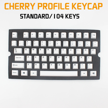 dhl ems 117 keycaps pbt cherry profile caps for mechanical gaming keyboard russian korean japanese Cherry Profile Dye Key Cap Set Thick PBT Plastic White Color Keycaps For Mechanical Gaming Keyboard Standard 104 Key Position