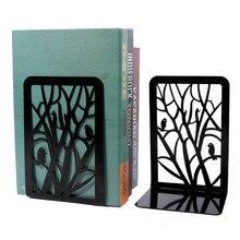 Estantería de Metal para libros con ramas simples, sujetalibros de estantería de acero inoxidable, para estudiantes