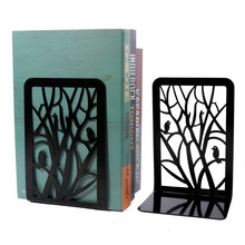 New Simple Branches Bird Metal Bookrack Hollow BookShelf BOOKENDS Book Holders stainless steel Scholar Student Gifts