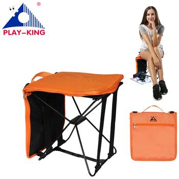 PLAY-KING przenośne składane krzesło kempingowe składane piesze wycieczki torba na zewnątrz dla trekking piknik Beach Seat narzędzia połowowe krzesło tanie i dobre opinie 1390