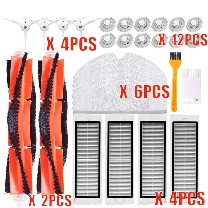New Main Brush Hepa Filter Side Brush Mop Cloths Kit For Xiaomi Mijia Robot Roborock S50 S51 Roborock 2