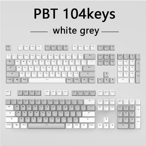 Image 5 - أغطية مفاتيح PBT شفافة بإضاءة خلفية 104 مفتاح غطاء لوحة المفاتيح الميكانيكية غطاء مفتاح مزدوج النار لكرز MX