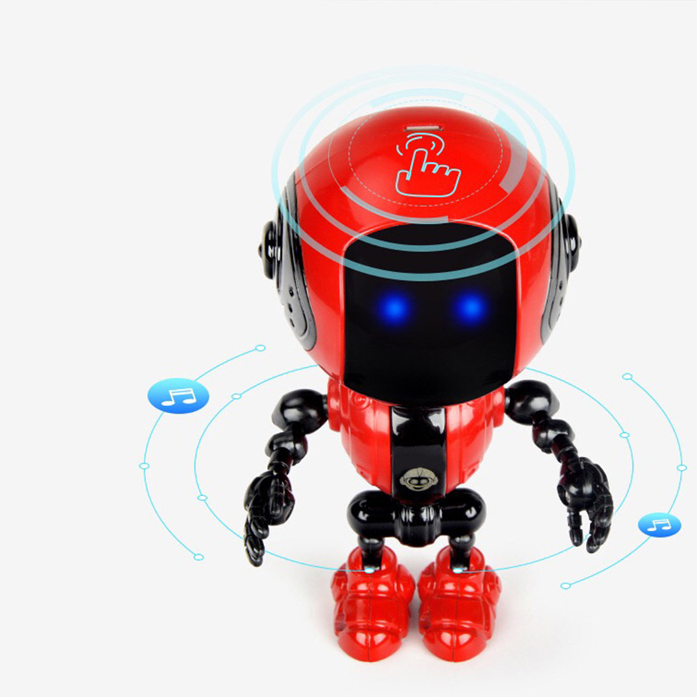 Mini Alloy Robot Rechargeable Kids Touch Sensor LED Music Smart Robot With Movable Joints USB Charging Toys For Children New