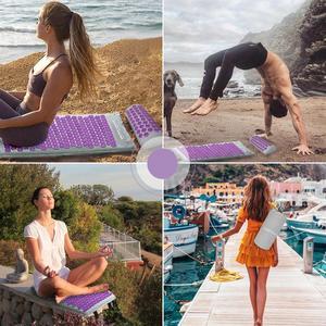 Image 5 - Máy Massage Bấm Huyệt Thảm Gối Châm Cứu Thảm Tập Mat Yoga Cho Giải Tỏa Căng Thẳng Sau Cổ Tọa Đau Thư Giãn Căng Thẳng Phát Hành