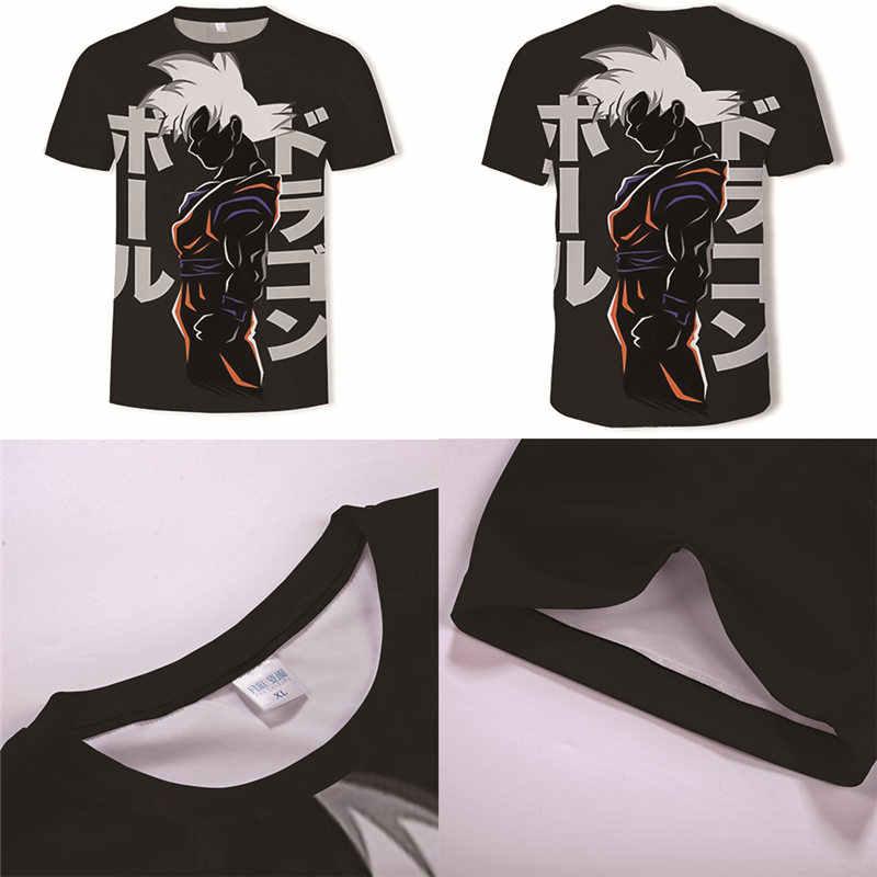 Nieuwste Dragon Ball T-shirt 3d Super Saiyan Dragonball Z kids Goku Tshirt cartoon koppels Vegeta T-shirt Mannen Top Plue size 6XL