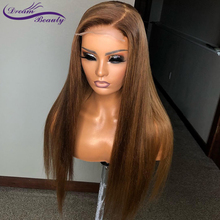 Colored 13*6 Deep Part Lace Front Wig Straight Blonde Color