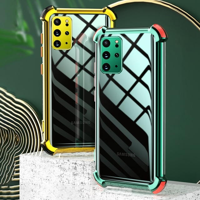עמיד הלם סיליקון מקרה טלפון עבור Samsung Galaxy A50 A70 A51 A71 S20 FE S21 בתוספת S20 Ultra A32 A42 A52 a72 5G שקוף כיסוי