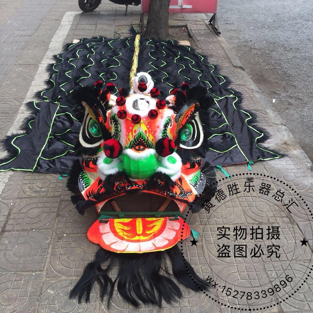 Costume de danse du Lion du sud deux adultes chinois Lion tenue de danse laine à la main accessoires de scène pour deux adultes Costume publicitaire