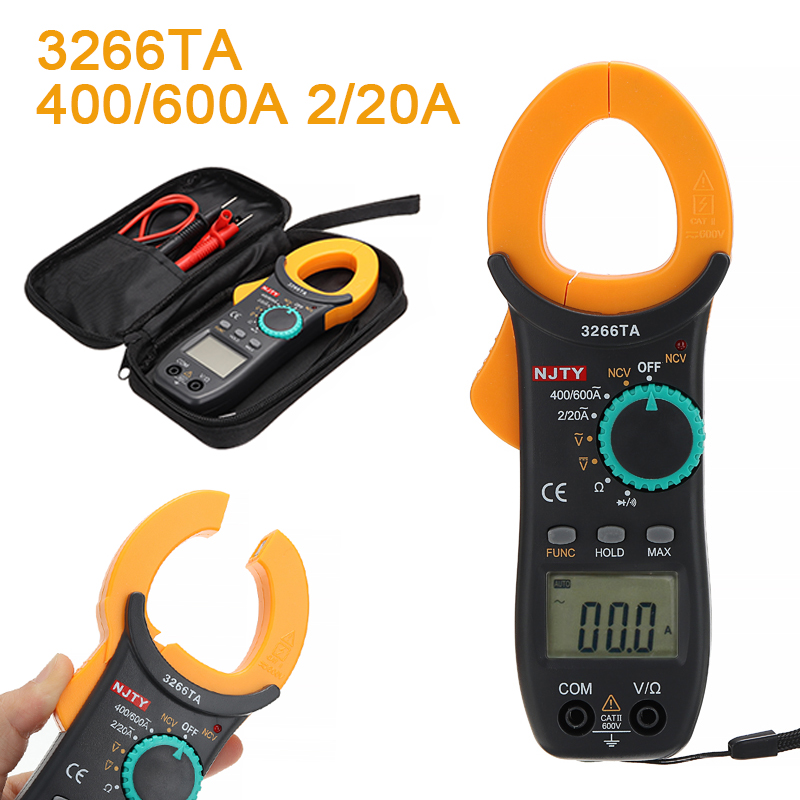 1Piece Digital AC DC Clamp Meter Capacitance Frequency Resistance Earth Tester Multimeter Measurement & Analysis Instruments