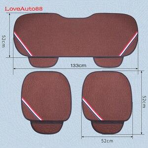 Image 5 - Para lada vesta 3 pçs capa de assento do carro frente assentos traseiros respirável protetor esteira almofada acessórios automóvel quatro estações para lada vesta