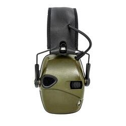 Orejera para disparar auriculares antiruido amplificación de sonido protección auditiva plegable