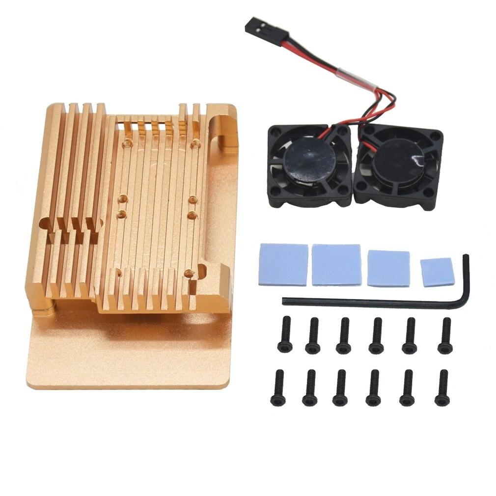 Metal Aluminum Alloy Case W/no Radiator Fan For Raspberry Pi 3 Model B + Cooling Shell Housing Cover