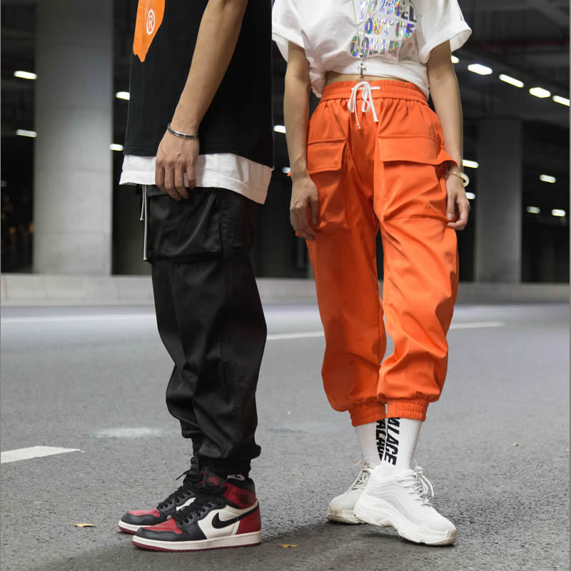 Hong Fashion Japanese-style Youth Popular Brand Thinner Pants Loose-Fit Men And Women Hip Hop INS Super Fire Pants Men's Hiphop
