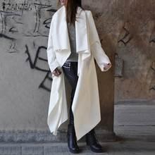 Asymmetrical Long Coats Women's Trench 2019 ZANZEA Fashion Long Sleeve Lapel Car