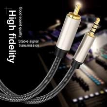Digital de alta fidelidade 3.5mm para rca spdif 3.5mm para rca coaxial cabo de áudio digital para xiaomi mi 12 tv