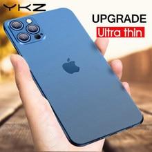 YKZ – coque de luxe souple et transparente pour iPhone, compatible modèles 11 Pro, max, PP, 12, 7, 8 Plus, XS Max, XR, SE 2020, mat