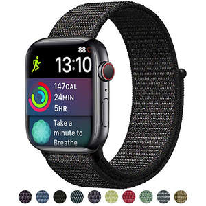 Sport loop for apple watch series 4 3 2 1 band reflective strap for iwatch 1 2 3 4 38mm