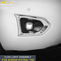 GELINSI for Nissan Patrol Y62 2pcs Auto Car styling Front Rear Fog Lights Assembly LED Light Replacement Exterior Parts