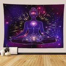 Chakra tapestry tkanina ścienna duża budda koc ściana tapiz mandala na ścianę dekoracja tapiserie tanie tanio SYKSYWQ CN (pochodzenie) AUBUSSON FGT6976 Scenic PRINTED Zwykły Tkane Rectangle 100 poliester yoga buddha 150x100cm 150x130cm 150x150cm 200x150cm 225x150cm
