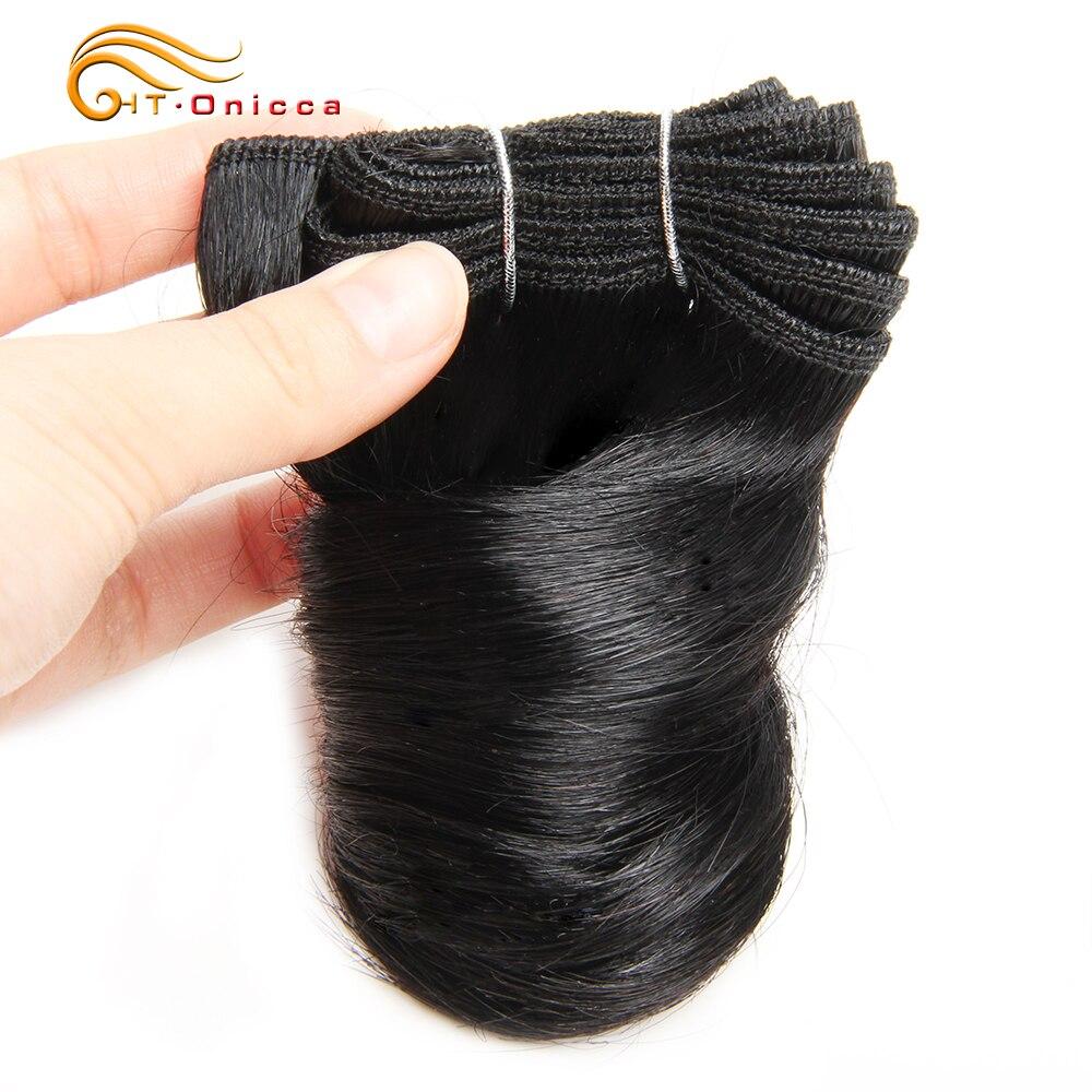 6 Pcs/Lot Funmi Hair Double Drawn   Bundles Romance Curl 8 Inch  Bundles  2