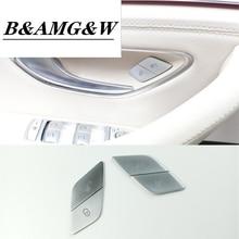 4Pcs Car Door Switch Unlock Buttons Sequins Decoration Cover Trim ABS For Mercedes Benz W205 W213 X253 C E Class GLC 2015-2019