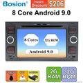 2 din android 9,0 Восьмиядерный автомобильный dvd gps для ford для focus 2/mondeo/s max/c-max/fusion/fiesta/transit радио головное устройство canbus