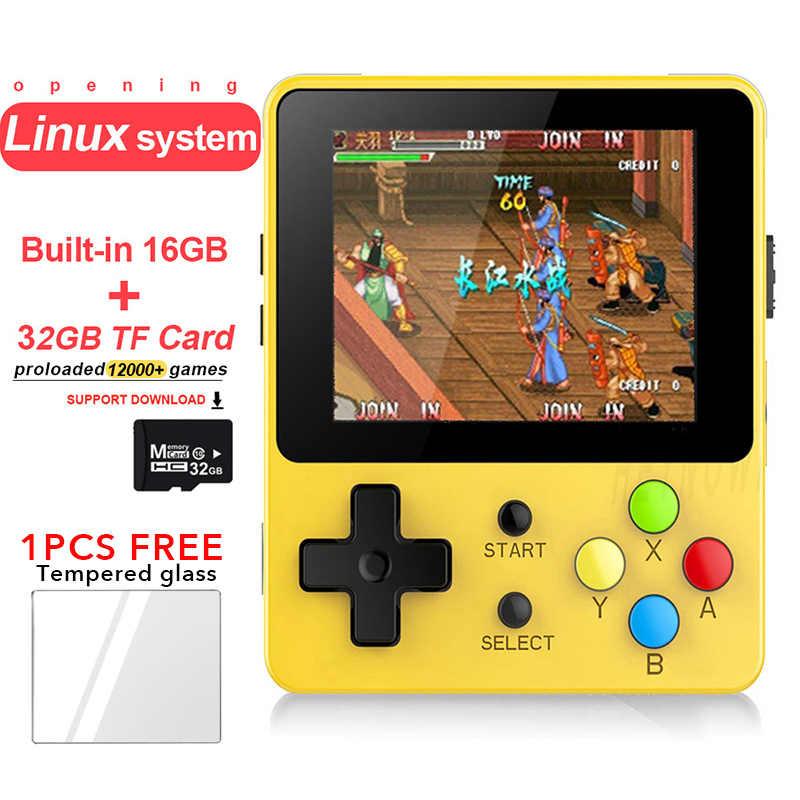 Açılış Linux Retro Oyun Konsolu 2.6 inç LDK Nostaljik Çocuk Retro oyun Mini Aile TV Video Konsolları mini el oyuncu