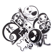 CA65 The Nightmare Before Christmas DIY Skateboard Graffiti Laptop Badge Motorcycle Luggage Bags Accessories