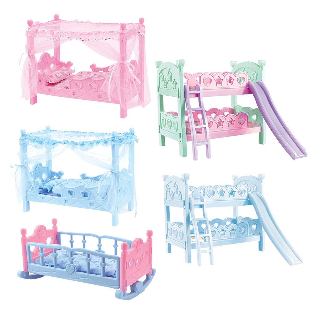 Children Girls Plays House Toy Bed Princess Dolls Toys Shaker Simulation Crib Educational Toys For Children Birthday Gifts