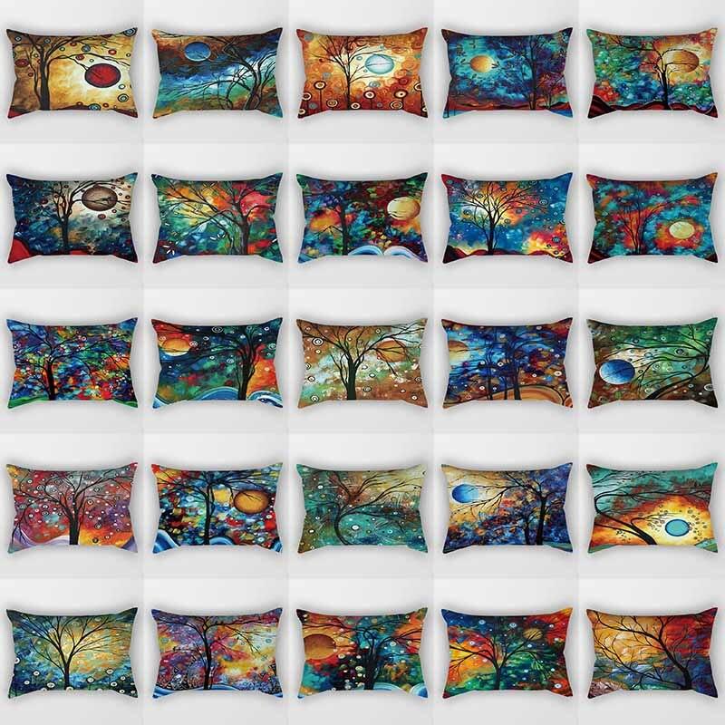Hot Sale Beauty Trees Pattern Pillow Cases  Rectangle Bedroom Pillow Cases Boys Girls Men Women Travel Pillow Cover 50*30cm