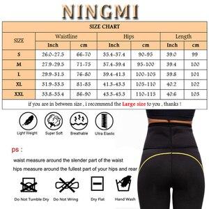 Image 5 - Ningmi痩身パンツネオプレンサウナボディシェイパースリムウエストトレーナー女性スポーツレギンスボディニッパーパンティー温暖化ズボン