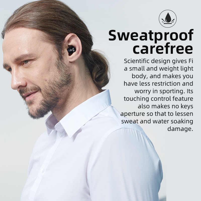 Bluedio Fi, auricular Bluetooth, TWS, auriculares inalámbricos, APTX, resistente al agua, Auriculares deportivos, auriculares inalámbricos, en el oído, caja de carga