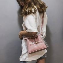 Women Bag Transparent Handbags Messenger-Bag Ladies Fashion PVC Bolsas Sac Main Femme