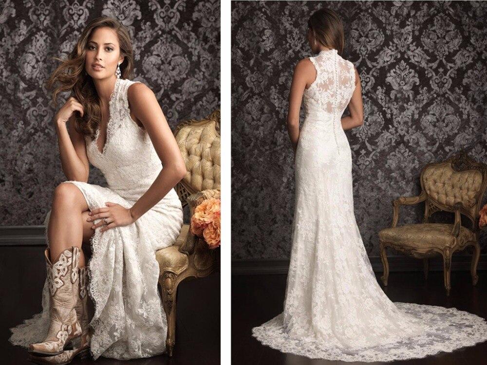 Горячая Распродажа, бесплатная доставка, новинка 2018, свадебное платье с v образным вырезом, романтичное Модное Длинное Платье, кружевное пла