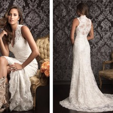 Hot sale free shipping new 2018 Bridal Gown v-neck romantic fashionable long vestido de noiva lace