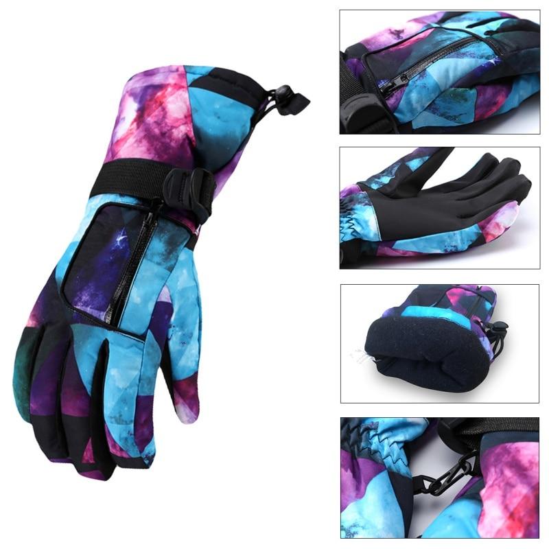 Winter Warm Snowboarding Ski Gloves Men Women Kids Snow Mittens Waterproof Skiing Snowmobile Handschoemen Gloves